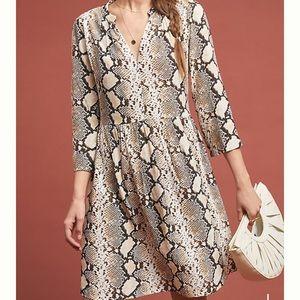 Anthropologie snake print dress